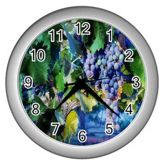 TIME2WINE Wall Clock (Silver)