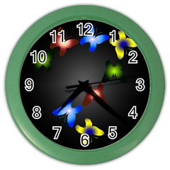 Butterfly Trail Wall Clock (Color)