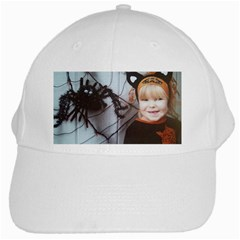 Spider Baby White Baseball Cap