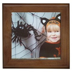 Spider Baby Framed Ceramic Tile