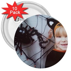 Spider Baby 3  Button (10 pack)