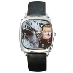 Spider Baby Square Leather Watch