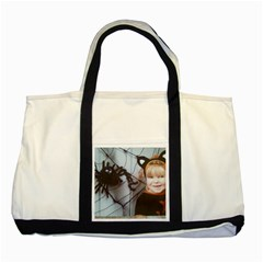 Spider Baby Two Toned Tote Bag