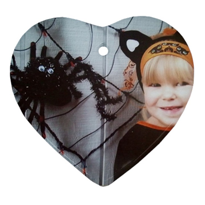 Spider Baby Heart Ornament (Two Sides)