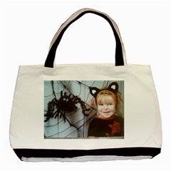 Spider Baby Twin Sided Black Tote Bag