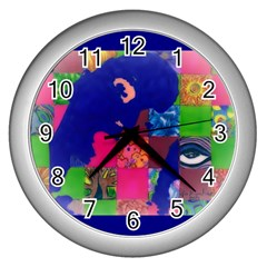 Busy Work Wall Clock (silver)