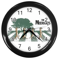 The meerkats Wall Clock (Black)
