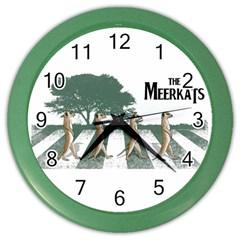 The meerkats Wall Clock (Color)