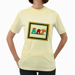 Sick Art  Womens  T-shirt (Yellow)