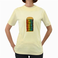 Daily Dose of Colour  Womens  T-shirt (Yellow)