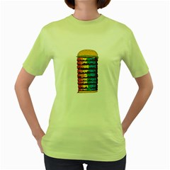 Daily Dose Of Colour Womens  T Shirt (green)