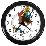 Watch it Wall Clock (Black) Front