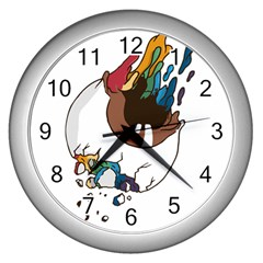 Watch It Wall Clock (silver)