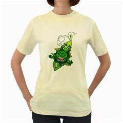 peasmash  Womens  T-shirt (Yellow)