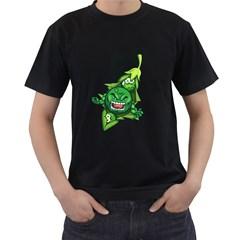 peasmash Mens' Two Sided T-shirt (Black)
