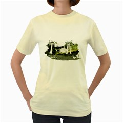 CastleWood by Speedcow  Womens  T-shirt (Yellow)