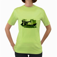 Castlewood By Speedcow Womens  T Shirt (green)