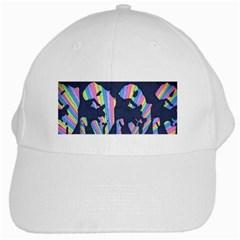 Subtle Change Color White Baseball Cap