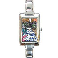 Out of this World Rectangular Italian Charm Watch