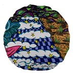 Out of this World 18  Premium Round Cushion  Back