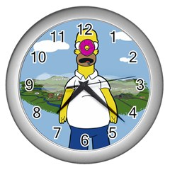 Son of the donut Wall Clock (Silver)