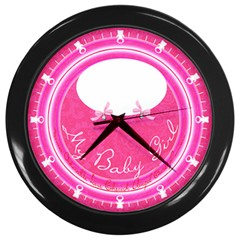 My Baby Girl Clock Wall Clock (black)