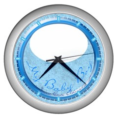My Baby Boy Clock Wall Clock (silver)