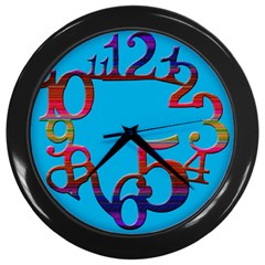 Wild Numbers Wall Clock (Black)