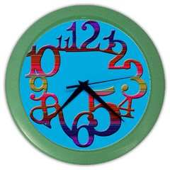 Wild Numbers Wall Clock (Color)