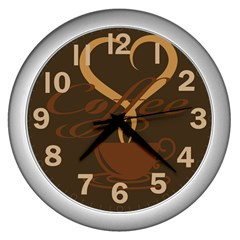 Coffee Time Wall Clock (silver)