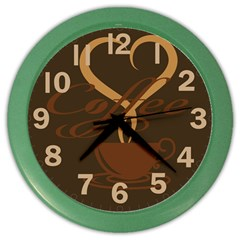 Coffee Time Wall Clock (Color)
