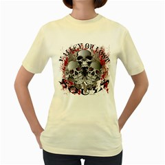 Valley Of Lost Souls  Womens  T Shirt (yellow)