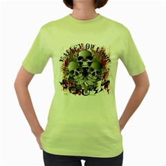 Valley Of Lost Souls Womens  T-shirt (Green)