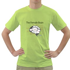 Female Brain Mens  T-shirt (Green)