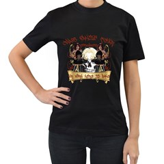 Chaos Panic Fear Our Work Here Is Done Womens' Two Sided T Shirt (black)