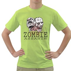 Zombie Assasin Mens  T-shirt (Green)