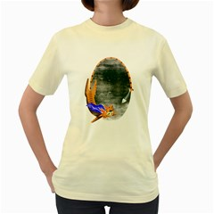 Even heroes gotta eat  Womens  T-shirt (Yellow)