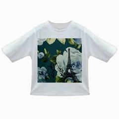 Blue roses vintage Paris Eiffel Tower floral fashion decor Baby T-shirt