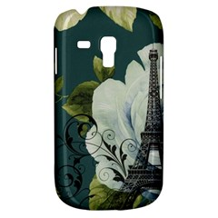 Blue roses vintage Paris Eiffel Tower floral fashion decor Samsung Galaxy S3 MINI I8190 Hardshell Case