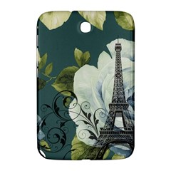 Blue Roses Vintage Paris Eiffel Tower Floral Fashion Decor Samsung Galaxy Note 8 0 N5100 Hardshell Case