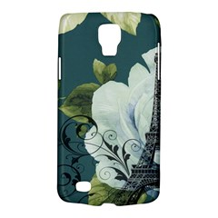 Blue roses vintage Paris Eiffel Tower floral fashion decor Samsung Galaxy S4 Active (I9295) Hardshell Case