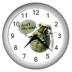 Grenade  Wall Clock (Silver)