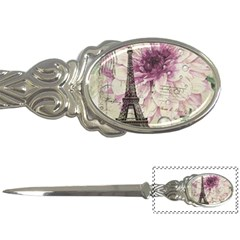 Purple Floral Vintage Paris Eiffel Tower Art Letter Opener