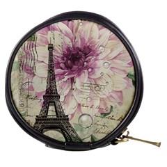 Purple Floral Vintage Paris Eiffel Tower Art Mini Makeup Case