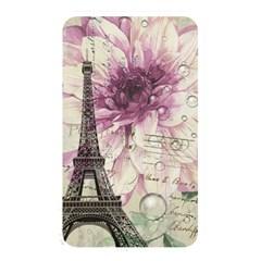 Purple Floral Vintage Paris Eiffel Tower Art Memory Card Reader (rectangular)