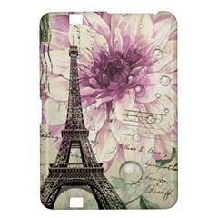 Purple Floral Vintage Paris Eiffel Tower Art Kindle Fire Hd 8 9  Hardshell Case