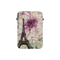 Purple Floral Vintage Paris Eiffel Tower Art Apple iPad Mini Protective Soft Case