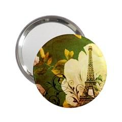 Floral Eiffel Tower Vintage French Paris Handbag Mirror (2 25 )