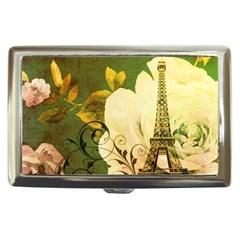 Floral Eiffel Tower Vintage French Paris Cigarette Money Case