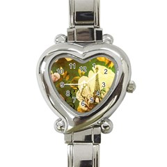 Floral Eiffel Tower Vintage French Paris Heart Italian Charm Watch